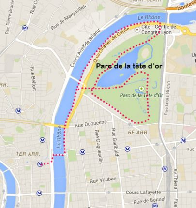 parc-de-la-tête-d-or-Velo-Lyon