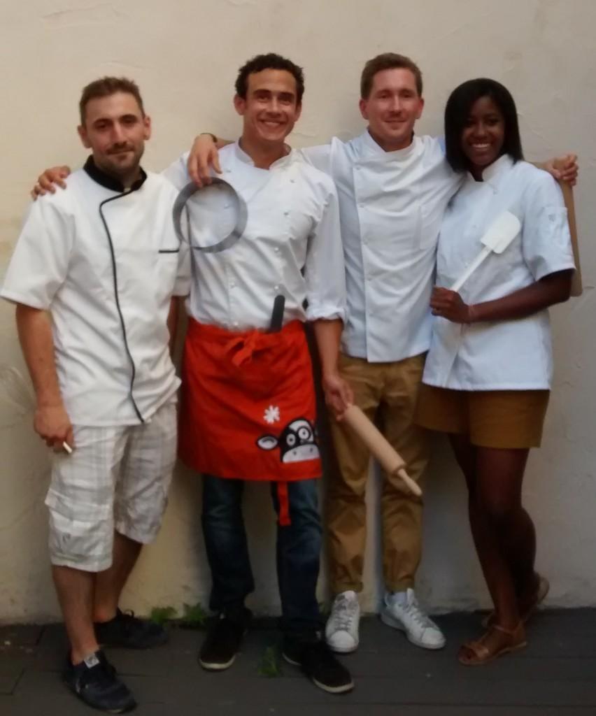 Jean-Baptiste, Yann, Jean et Salimata, lauréats promo 2015