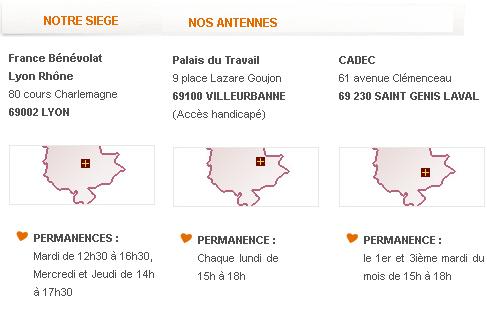 Adresses France bénévolat