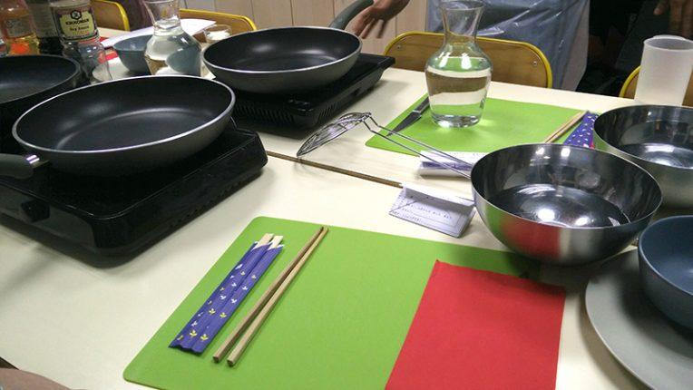 Les ustenciles qui vont être utilisés pour la préparation des Dango.