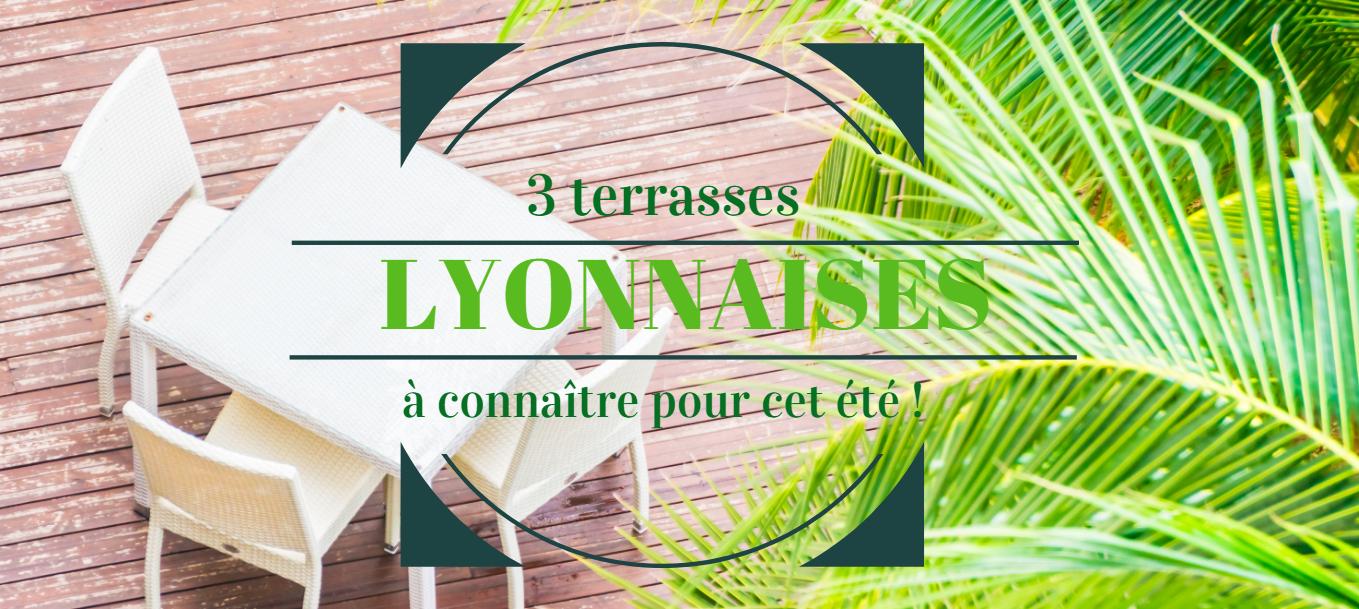 3 belles et grandes terrasses à Lyon