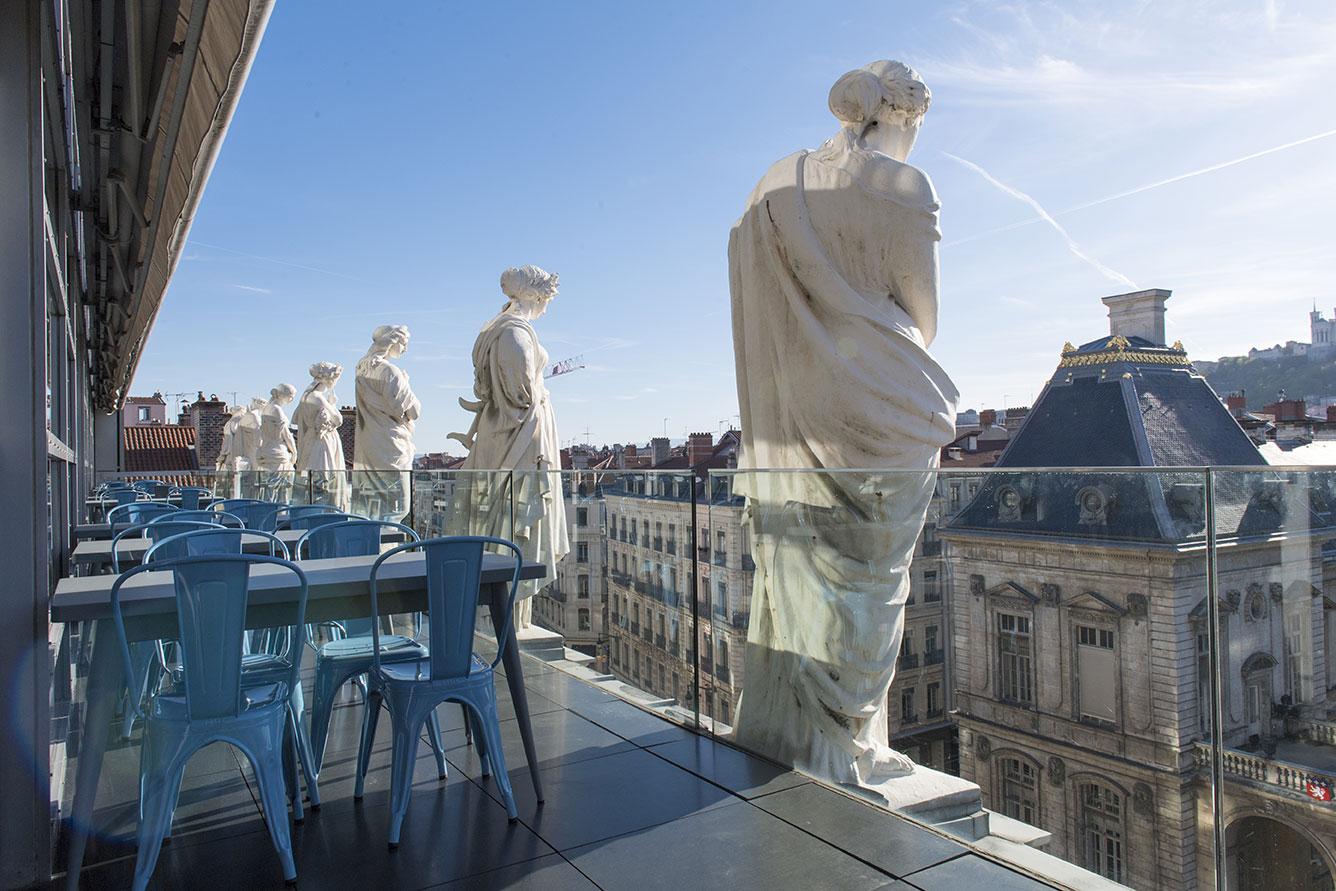 rooftop les muses de l'opéra Lyon