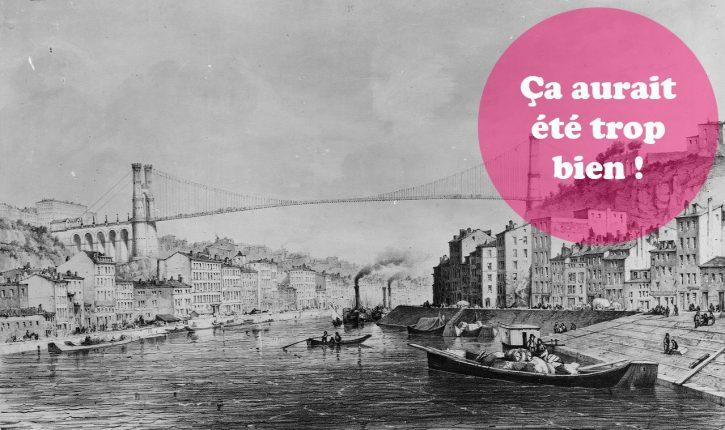 Photos – Les projets trop cool d'un pont suspendu au dessus de la Saône !