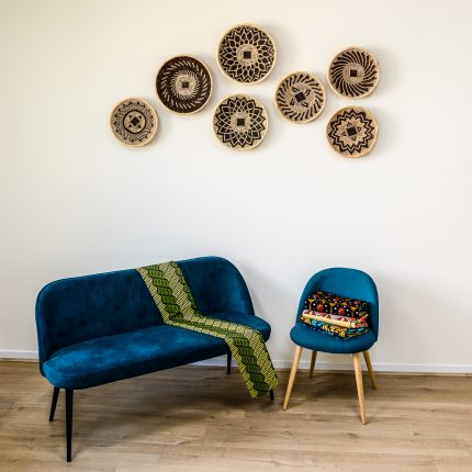 tissu décoration wax bantu décor