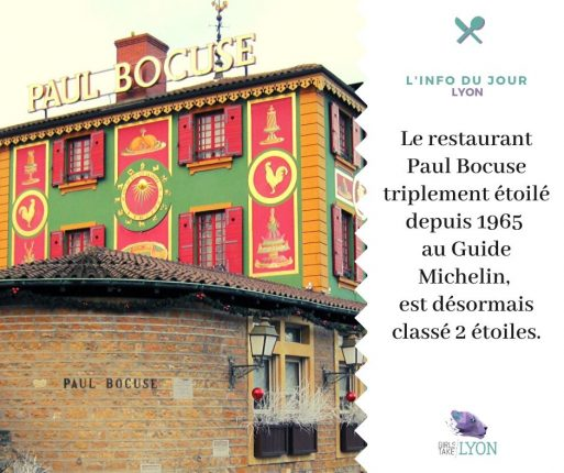 Le restaurant Paul Bocuse classé 2 étoiles en 2020 par le Guide Michelin