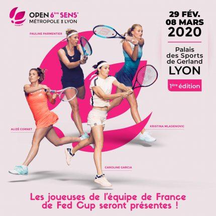 Tournoi de tennis féminin à Lyon