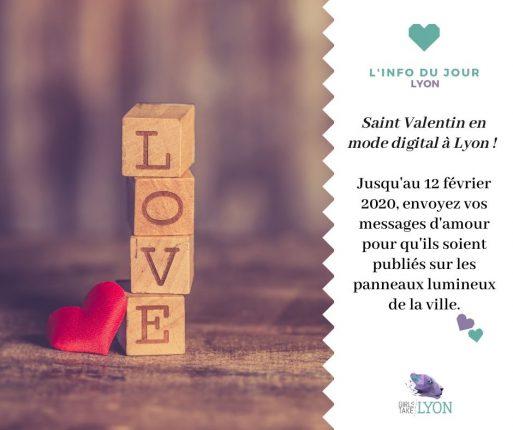 Un message à passer pour la Saint-Valentin à Lyon ?