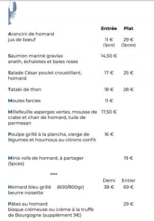 thon, poulpe, moules et homard sont grillés à la plancha ou travaillés dans des recettes plus appétissantes les unes que les autres