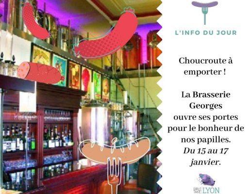 La Brasserie Georges propose sa fameuse choucroute à emporter !